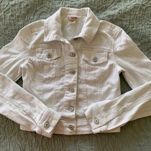 Mossimo White Denim Jacket XS